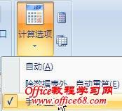 如何控制Excel2007自动计算的显示结果