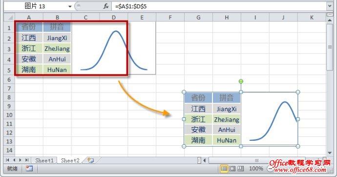Excel照相机功能及其自动调用图片的应用