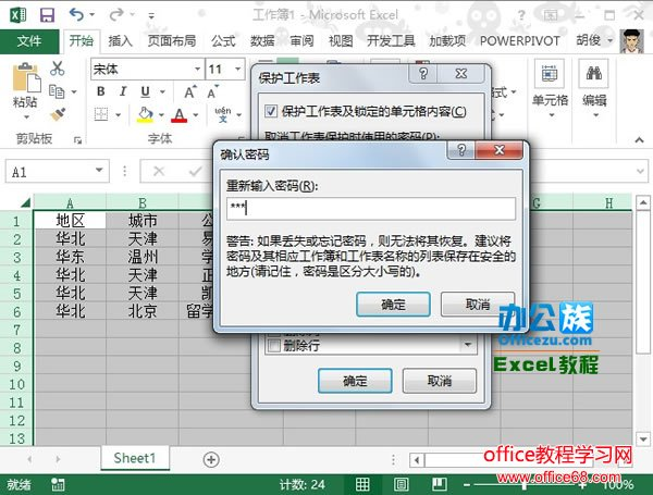 Excel2013中如何保护工作表全攻略3