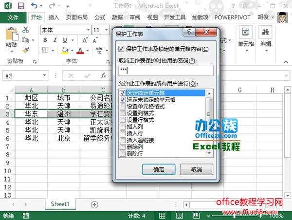 Excel2013中如何保护工作表全攻略6