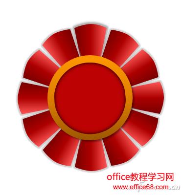 ppt红色圆形素材