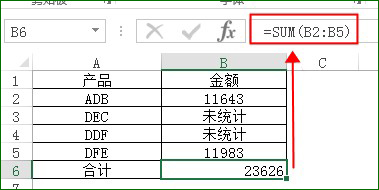 SUM求和函数