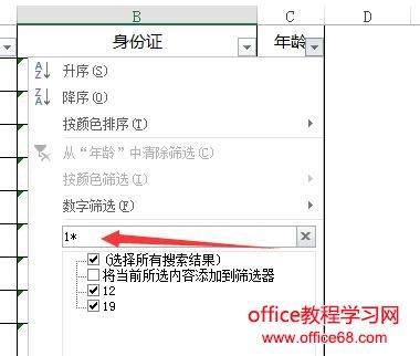 Excel筛选技巧