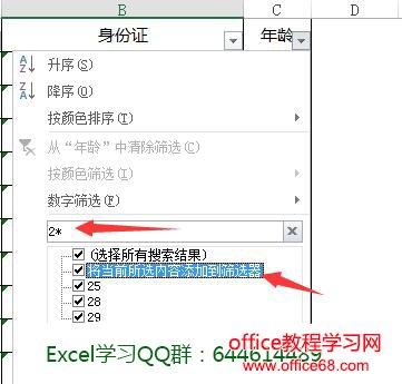 Excel如何将当前所选内容添加到筛选器筛选技巧