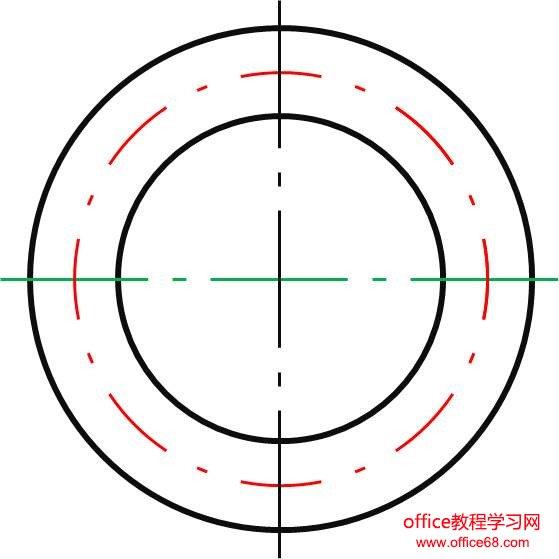 (原创教程)用PowerPoint绘制虚线和点划线的方法 - 刘老师 - 天津劳技