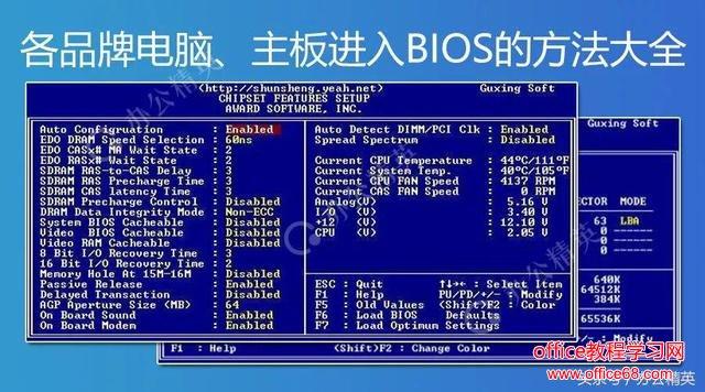 各品牌台式机/笔记本、主板BIOS启动方法大全