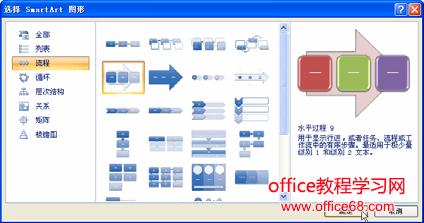 使用excel提供的图示插入流程图