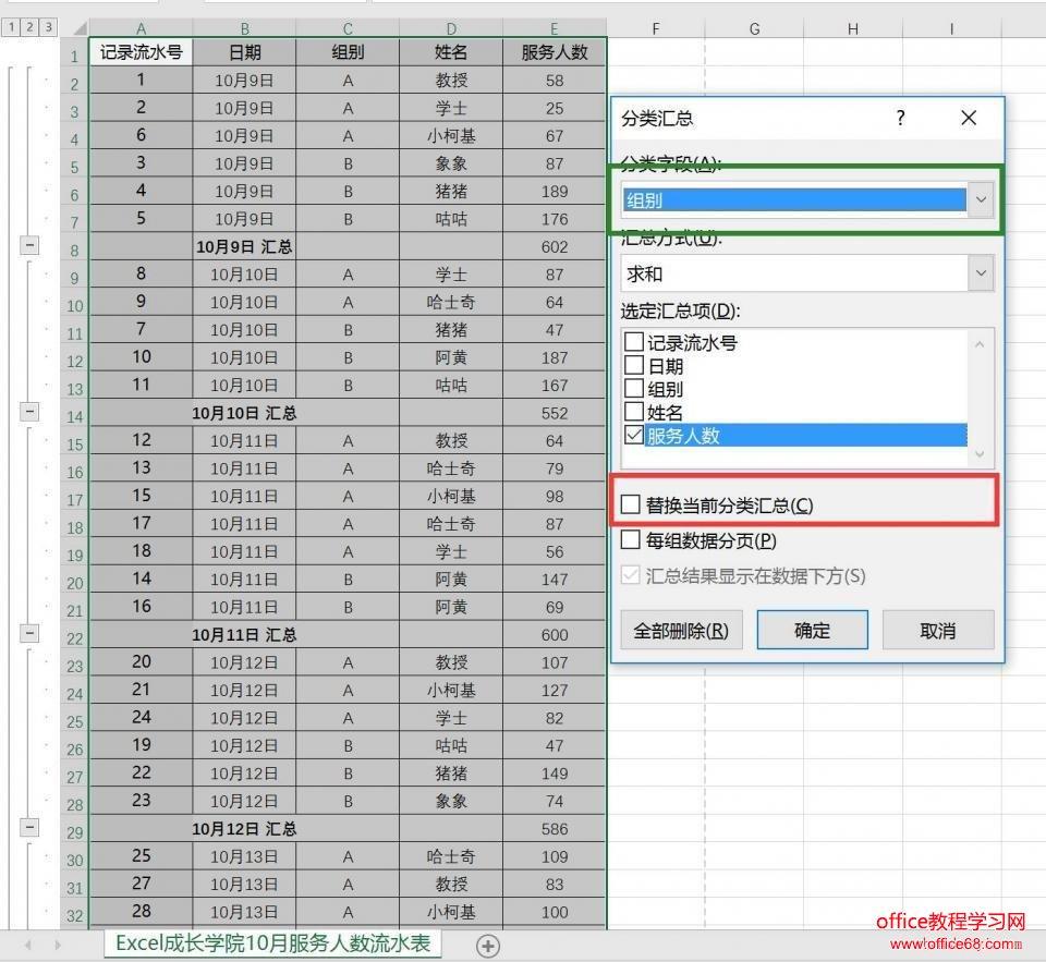 如何使用Excel分类汇总功能,快速做出多级统计求和5